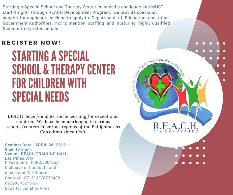 Starting A Special School Therapy Center For Children With Special