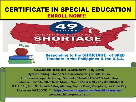 news and events » REACH Incorporated: SPED Short Courses