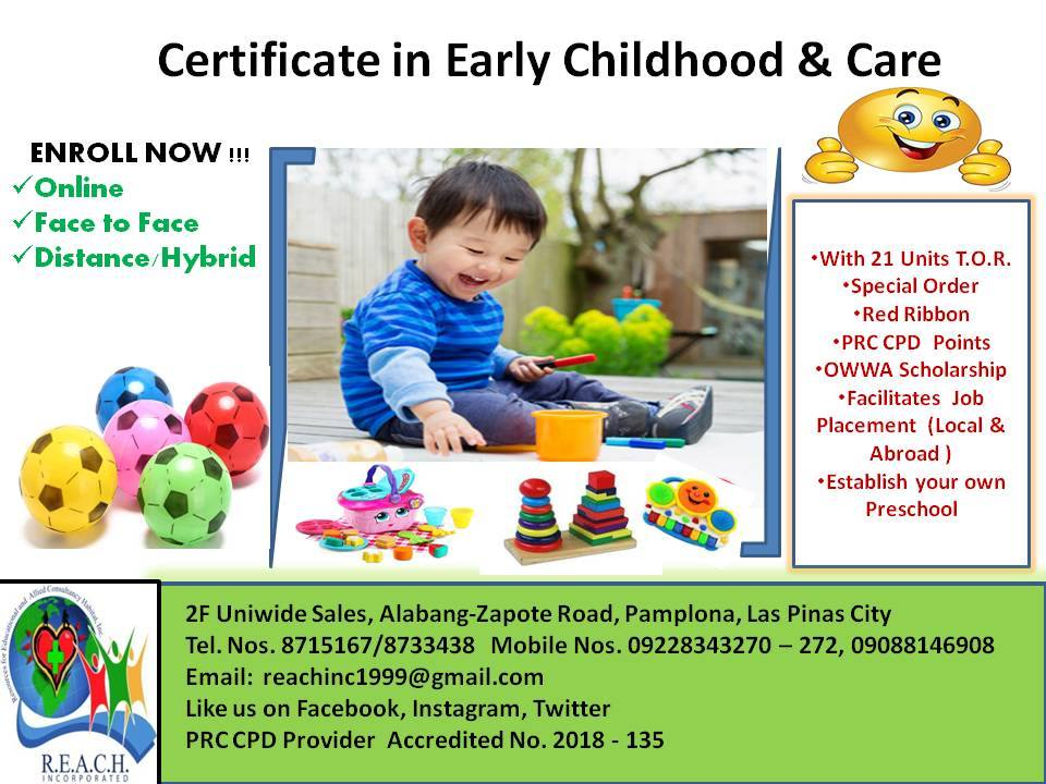 Early Childhood Education And Care Ecec >> Certificate In Special Education Specialized In Early Childhood